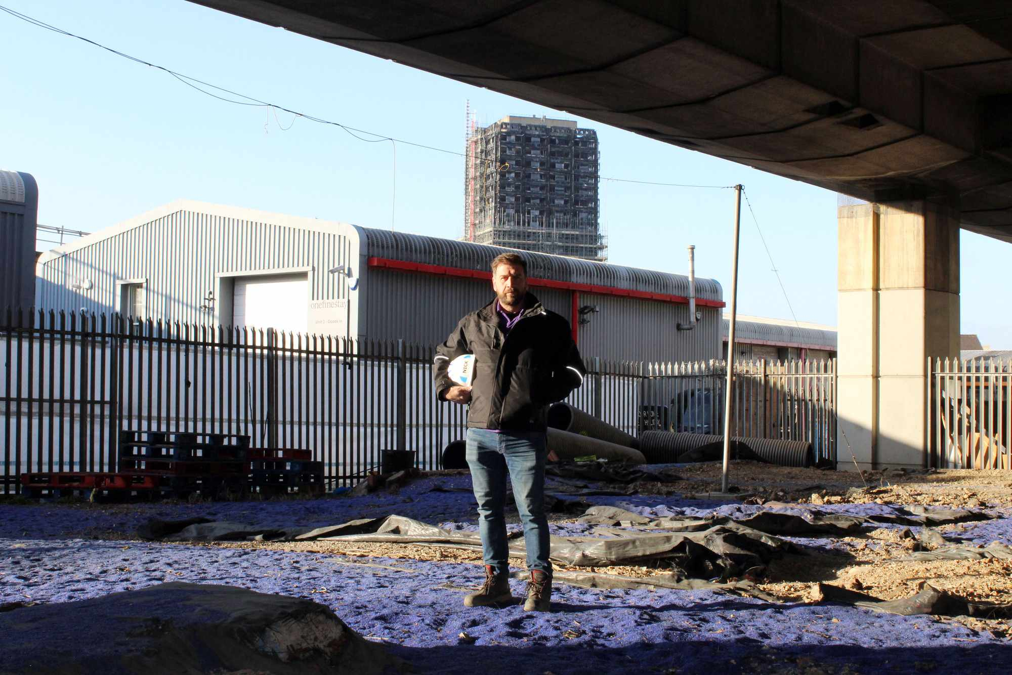 Nick Knowles on the site of the new boxing gym in DIY: SOS (BBC)