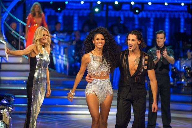 Tess Daly, Vick Hope and Graziano Di Prima during the Strictly Come Dancing 2018 launch show (BBC)