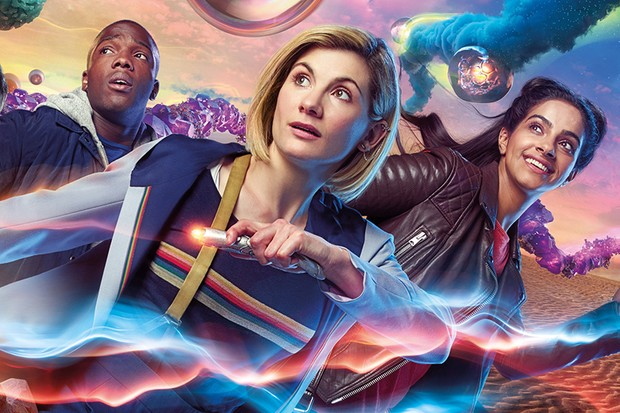 Tosin Cole, Jodie Whittaker and Mandip Gill in a Doctor Who series 11 promotional picture (BBC, HF)