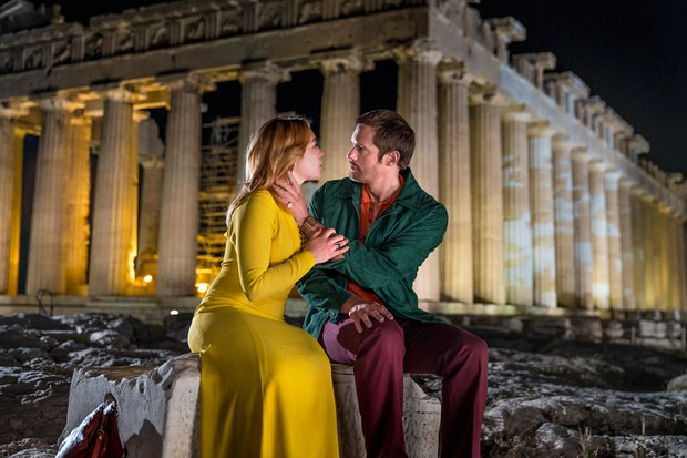 Florence Pugh and Alexander Skarsgaard in The Little Drummer Girl (BBC)