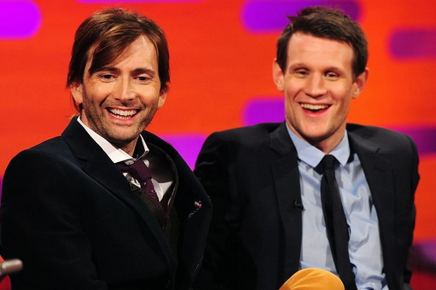 David Tennant and Matt Smith on the Graham Norton Show (BBC, HF)