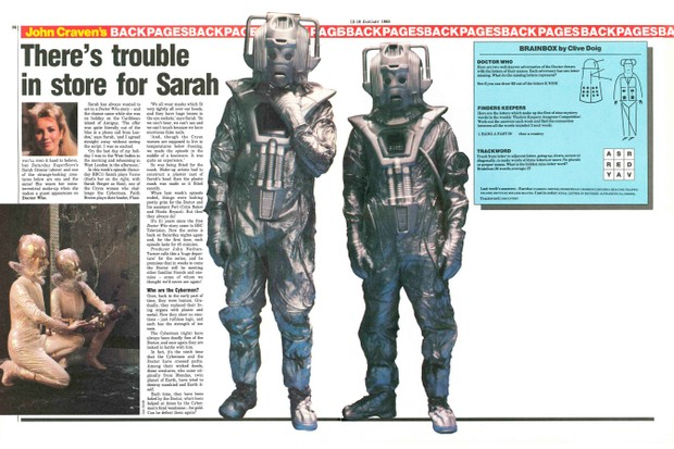 A Radio Times feature for 1985 serial Attack of the Cybermen