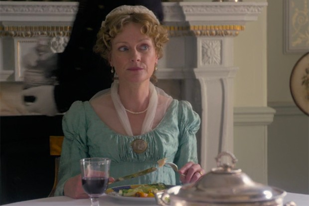 Claire Skinner plays Mrs Sedley in Vanity Fair