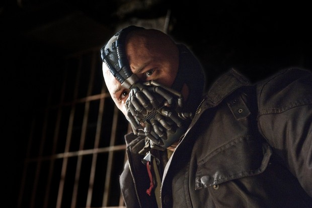 THE DARK KNIGHT RISES - Tom Hardy as Bane. (Warner Bros)