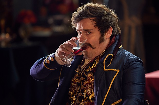David Fynn as Emmy's brother Jos Sedley in Vanity Fair