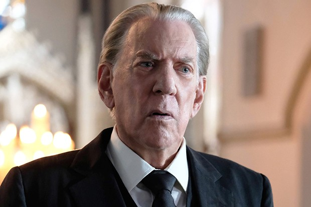 Donald Sutherland plays J Paul Getty Senior in Trust