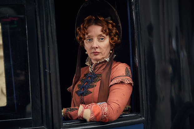 Elizabeth Berrington plays Lady Bareacres in Vanity Fair