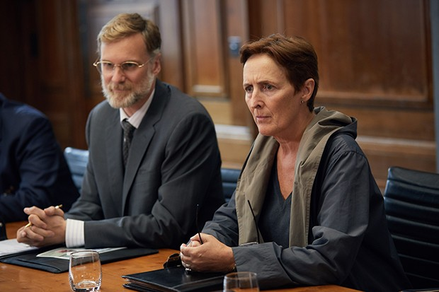 Fiona Shaw plays Carolyn Martens in Killing Eve