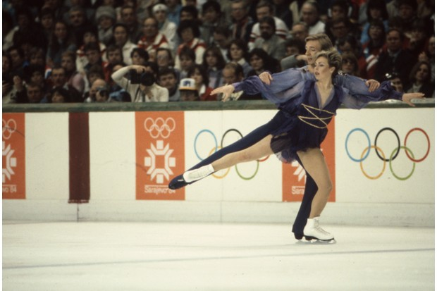 Christopher Dean, Jayne Torvill Competing In The 1984 Winter Olympics