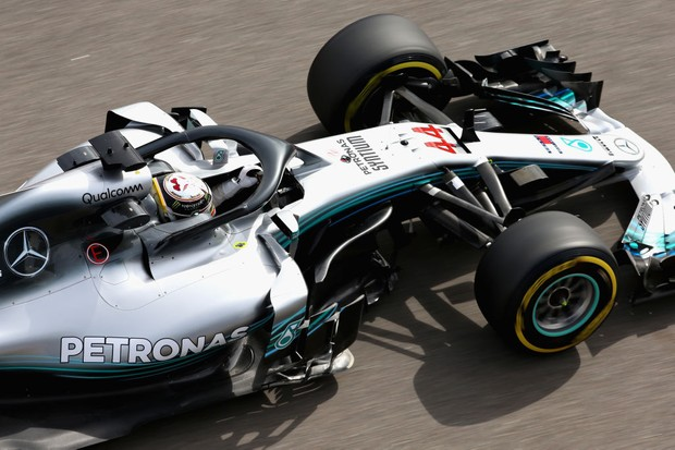 Lewis Hamilton on track during practice for the Formula One Grand Prix of Russia at Sochi Autodrom (Getty))