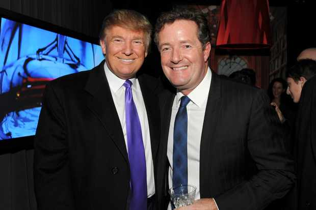 Donald Trump and Piers Morgan in New York in 2010 (Getty, EH)