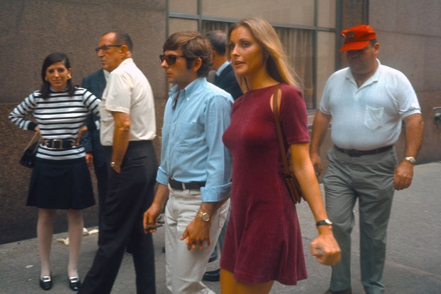 NEW YORK - AUGUST 15: Actress Sharon Tate with her husband Roman Polansky visiting the set of Rosemary's Baby on August 15,1967 in New York, New York. (Photo by Santi Visalli/Getty Images)