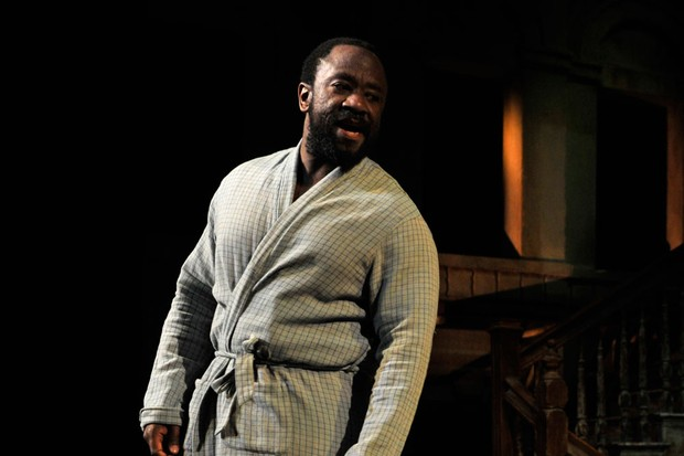 Lucian Msamati in James Baldwin's The Amen Corner directed by Rufus Norris at the National Theatre in London (Getty)