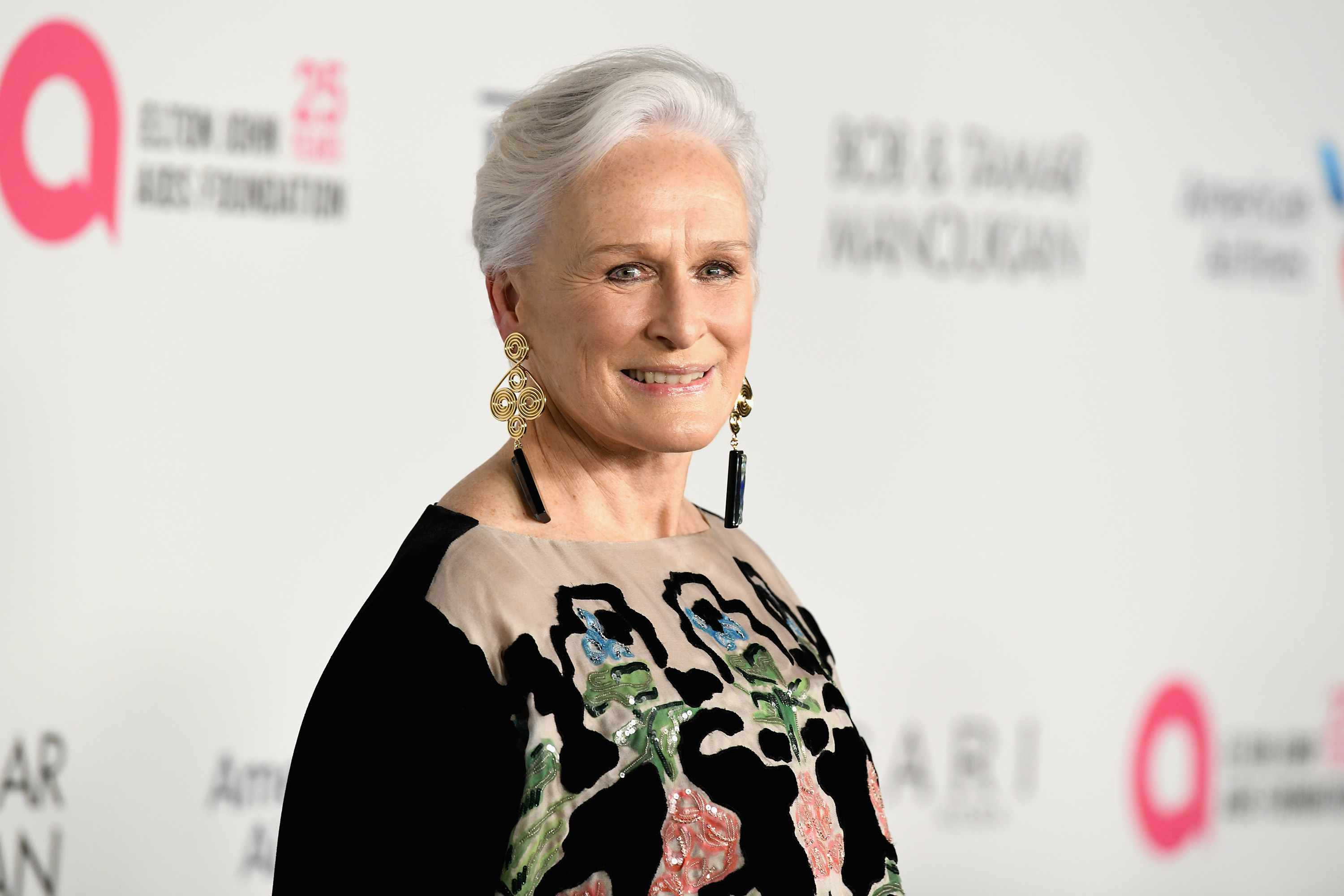NEW YORK, NY - NOVEMBER 07: Glenn Close attends the Elton John AIDS Foundation's Annual Fall Gala with Cocktails By Clase Azul Tequila at Cathedral of St. John the Divine on November 7, 2017 in New York City.  (Photo by Slaven Vlasic/Getty Images for Clase Azul)
