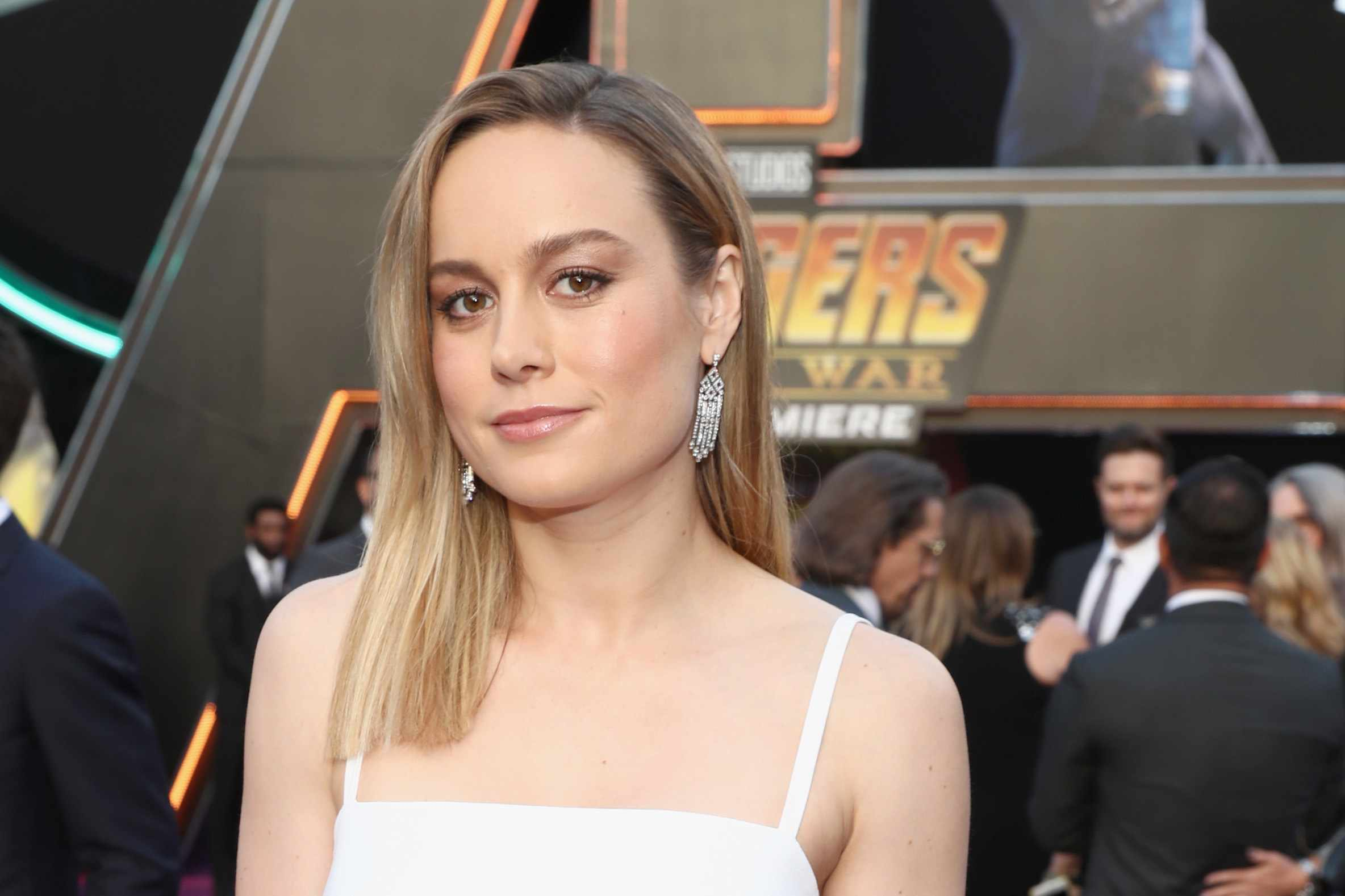 Captain Marvel star Brie Larson attends Avengers: Infinity War premiere (Getty)