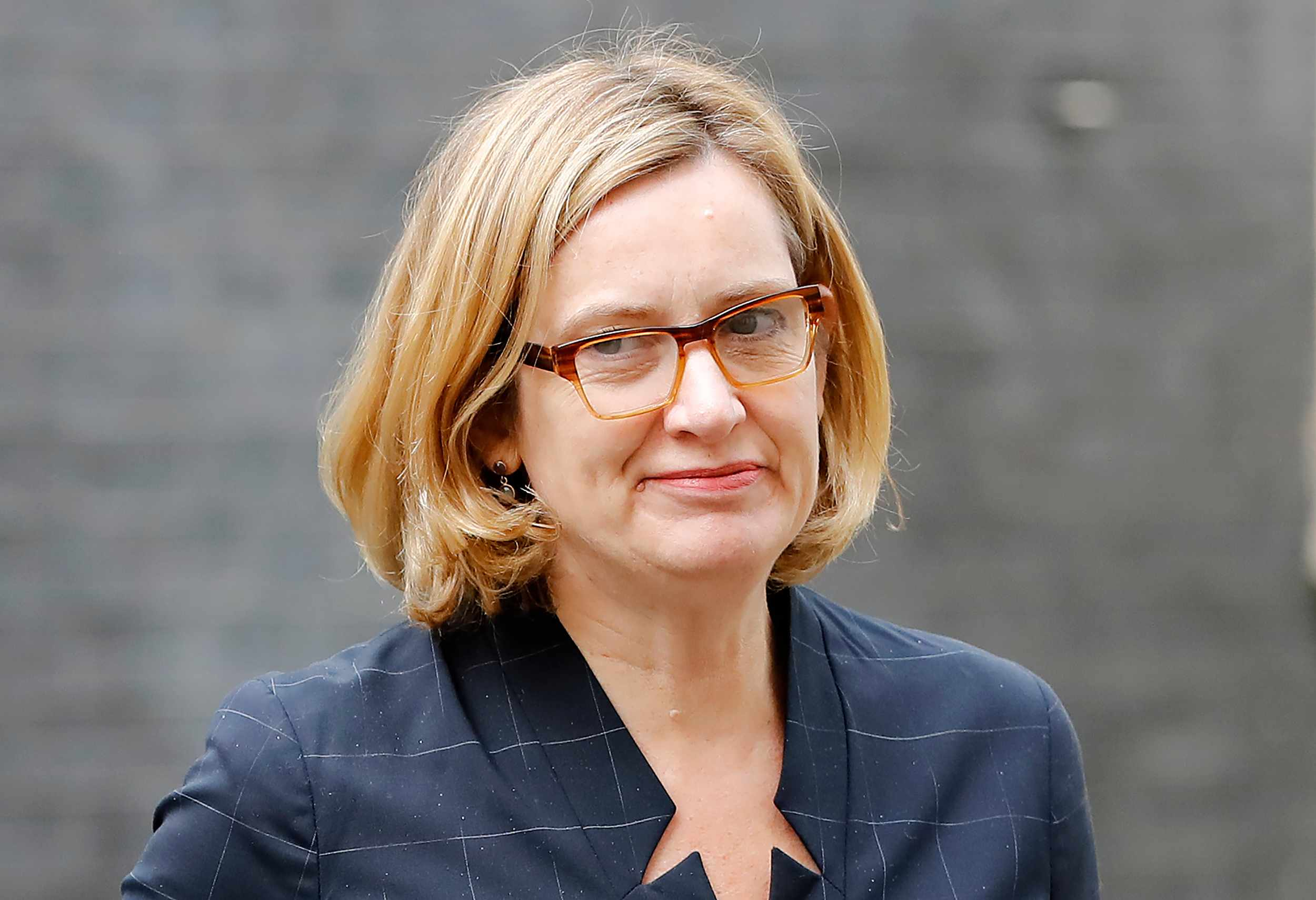 Britain's Home Secretary Amber Rudd arrives at 10 Downing Street in central London on April 25, 2018. (Photo by Tolga AKMEN / AFP)        (Photo credit should read TOLGA AKMEN/AFP/Getty Images)