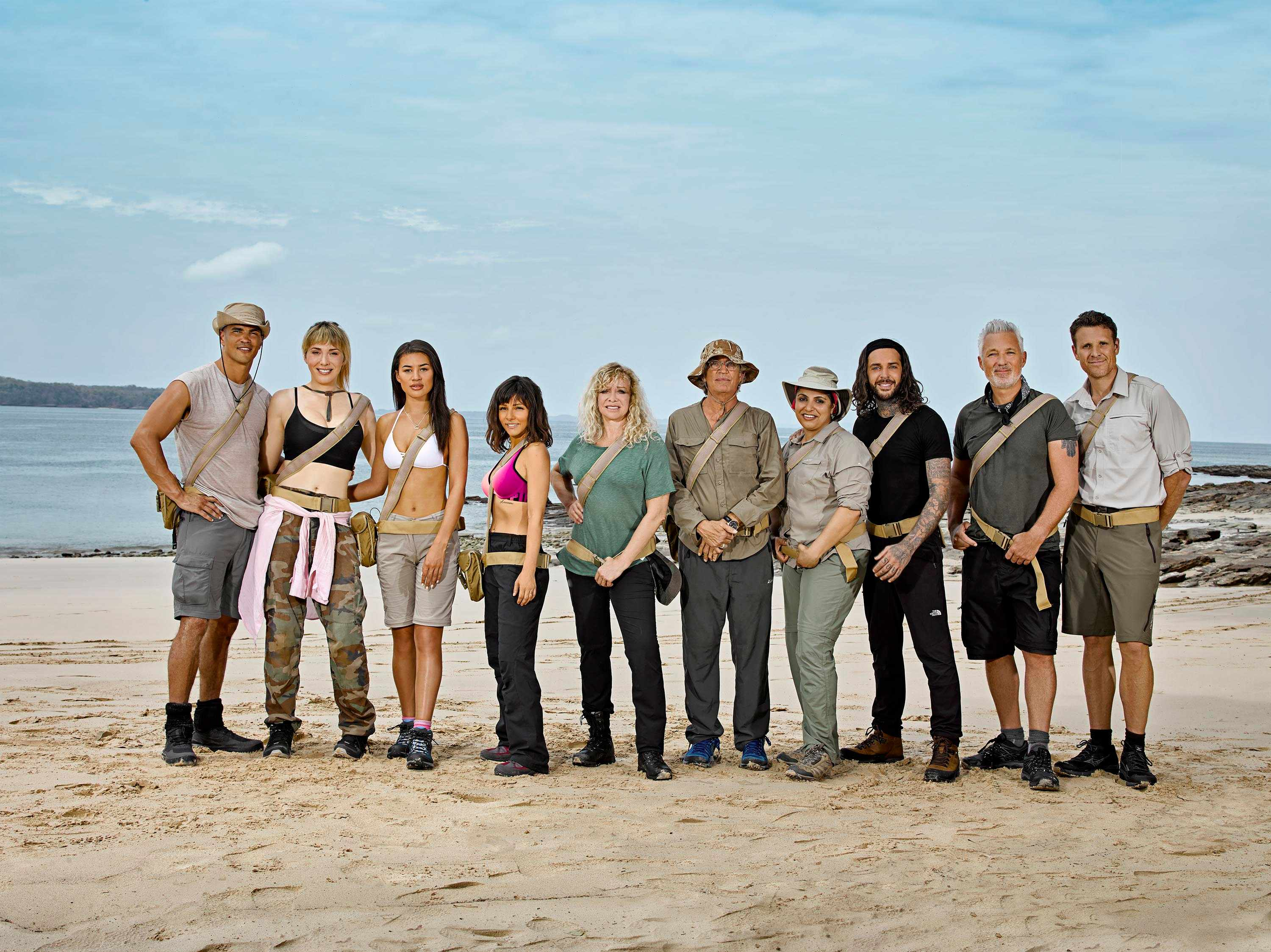 Anthony Ogogo, Paris Lees, Montana Brown, Roxanne Pallett, Jo Wood, Eric Roberts, Pete Wicks, Martin Kemp and James Cracknell