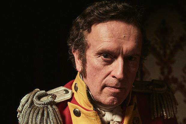 Patrick Fitzsymons plays Major Michael O'Dowd in Vanity Fair