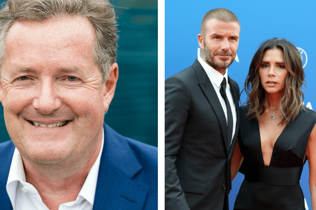 Piers Morgan and David and Victoria Beckham (Getty Images)