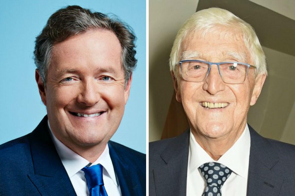 Piers Morgan, Michael Parkinson (ITV/ Getty)
