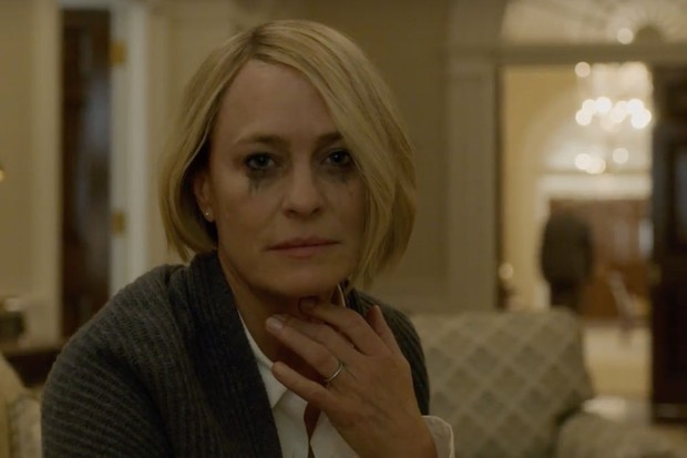 Claire Underwood (screenshot House of cards trailer season 6)