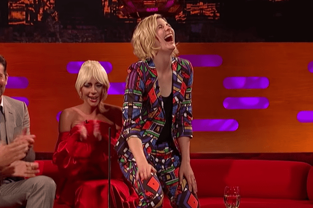 Jodie Whittaker on the Graham Norton Show (BBC, HF)