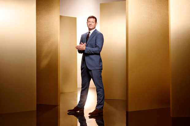 From Thames/Syco  The X Factor: SR15 on ITV  Pictured: Dermot O'Leary.  This photograph is (C) Thames/Syco/ITV and can only be reproduced for editorial purposes directly in connection with the programme or event mentioned above, or ITV plc. Once made available by ITV plc Picture Desk, this photograph can be reproduced once only up until the transmission [TX] date and no reproduction fee will be charged. Any subsequent usage may incur a fee. This photograph must not be manipulated [excluding basic cropping] in a manner which alters the visual appearance of the person photographed deemed detrimental or inappropriate by ITV plc Picture Desk.  This photograph must not be syndicated to any other company, publication or website, or permanently archived, without the express written permission of ITV Plc Picture Desk. Full Terms and conditions are available on the website www.itvpictures.co.uk  For further information please contact: james.hilder@itv.com / 0207 157 3052  TL