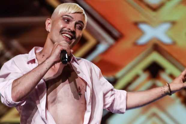 X Factor 2018 contestant Ivo Dimchev during his first audition on the ITV show (ITV)