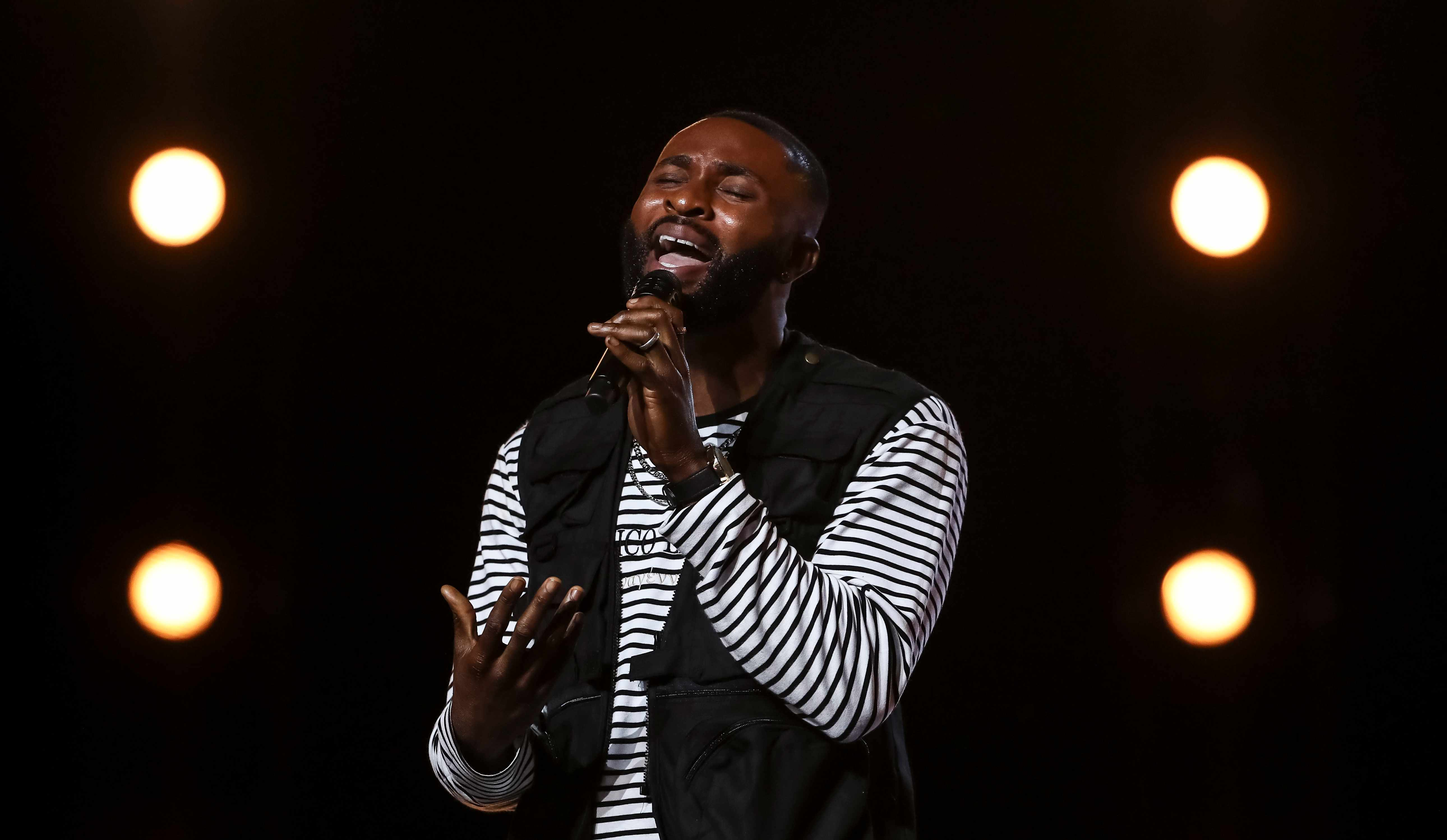This image is strictly embargoed until 00.01 Saturday 22nd September 2018  From Thames/Syco  The X Factor: SR15: Ep7 on ITV  Pictured: J-Sol.  This photograph is (C) Thames/Syco and can only be reproduced for editorial purposes directly in connection with the programme or event mentioned above, or ITV plc. Once made available by ITV plc Picture Desk, this photograph can be reproduced once only up until the transmission [TX] date and no reproduction fee will be charged. Any subsequent usage may incur a fee. This photograph must not be manipulated [excluding basic cropping] in a manner which alters the visual appearance of the person photographed deemed detrimental or inappropriate by ITV plc Picture Desk.  This photograph must not be syndicated to any other company, publication or website, or permanently archived, without the express written permission of ITV Picture Desk. Full Terms and conditions are available on the website www.itv.com/presscentre/itvpictures/terms  For further information please contact: james.hilder@itv.com / 0207 157 3052