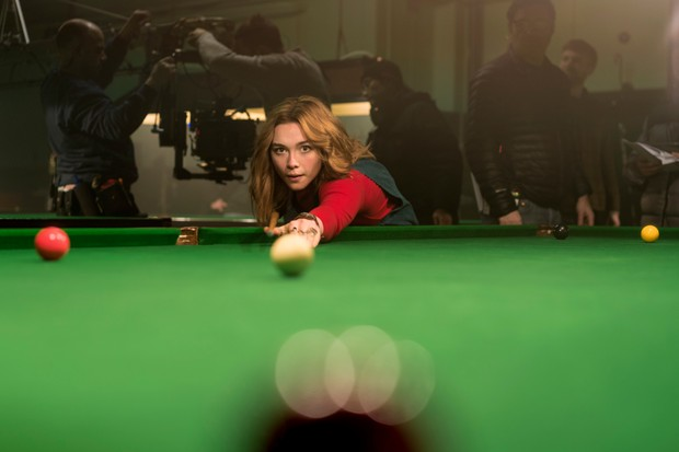Florence Pugh filming The Little Drummer Girl (BBC)
