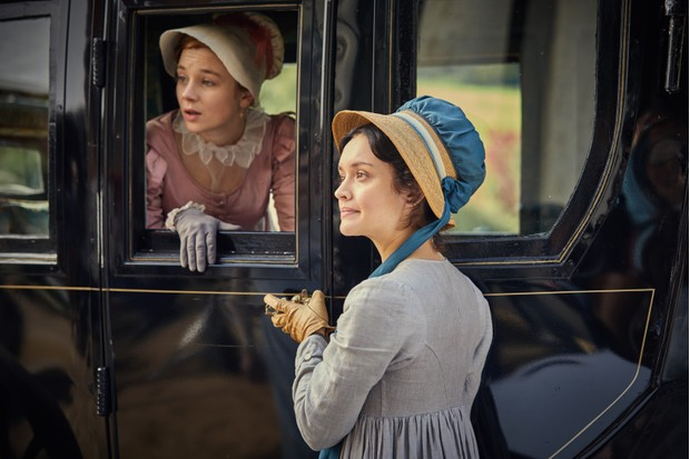 Olivia Cooke as Becky Sharp and Claudia Jessie as Amelia Sedley (Vanity Fair) (ITV)