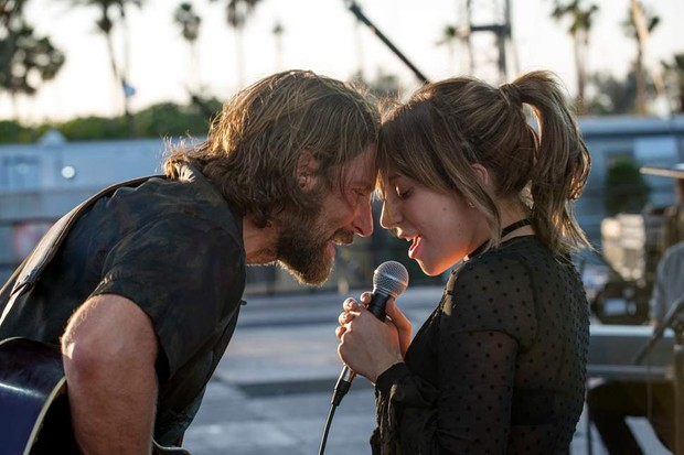 Bradley Cooper and Lady Gaga in A Star is Born (Warner Bros)