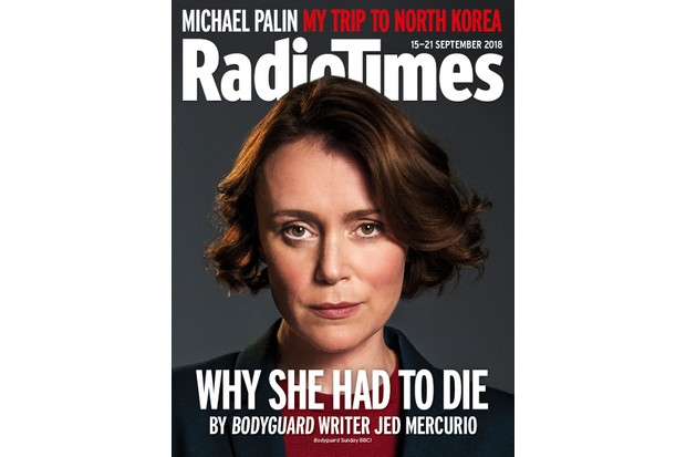 Bodyguard star Keeley Hawes on the cover of Radio Times magazine