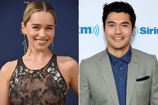 Emilia Clarke and Henry Golding in Last Christmas, Getty
