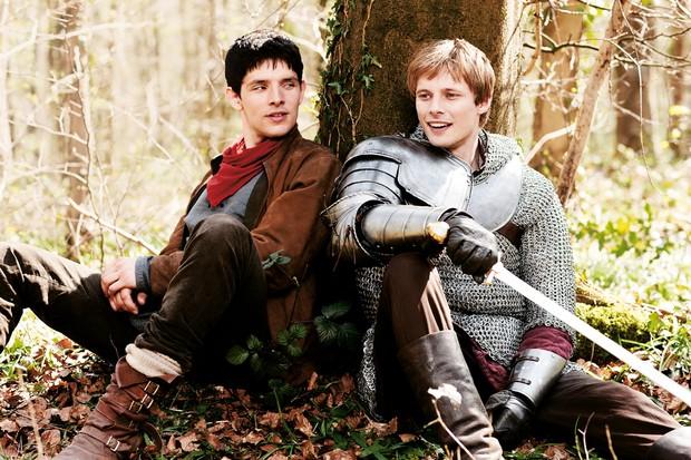 Colin Morgan and Bradley James in Merlin (BBC, HF)