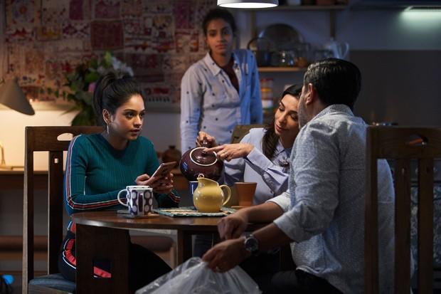 Bhavnisha Parmar, Ravin J Ganatr, Mandip Gill and Shobna Gulati in Doctor Who (BBC)