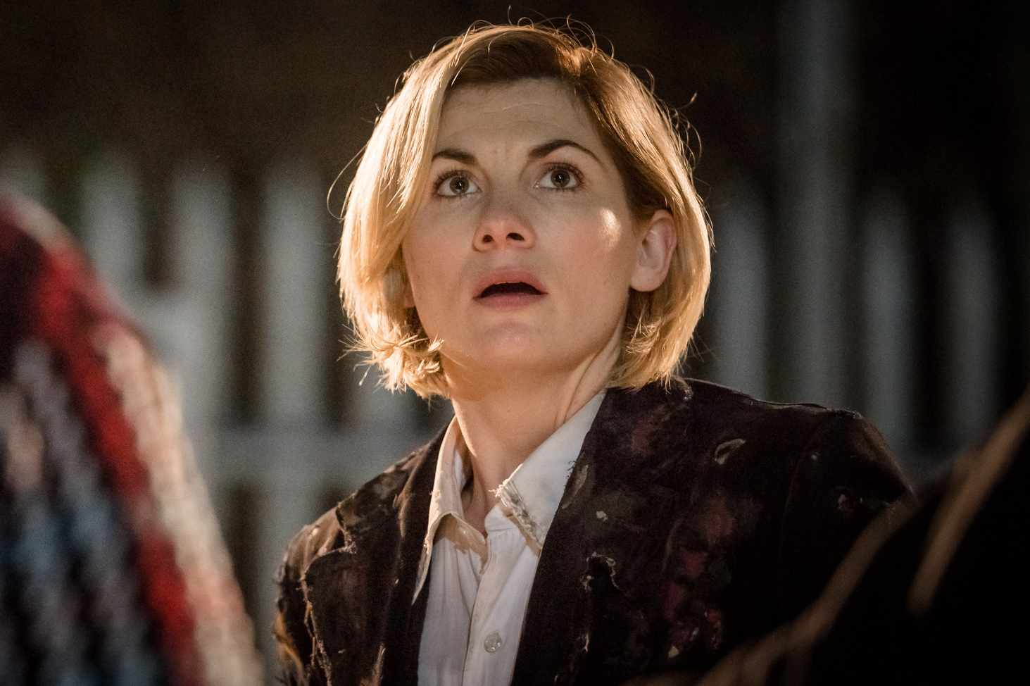 Jodie Whittaker in Doctor Who: The Woman Who Fell to Earth (BBC, HF)