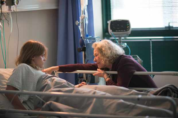 Alistair's mum with Joanna in hospital for The Cry