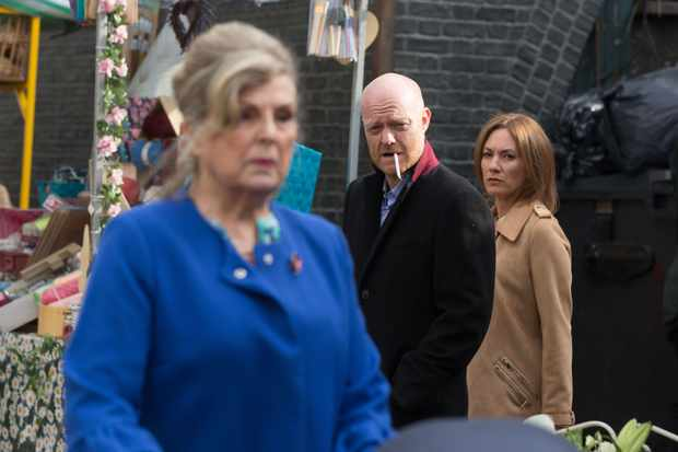 EastEnders: Cora (Ann Mitchell), Max (Jake Wood) and Rainie (Tanya Franks)