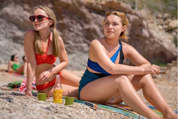 Programme Name: The Little Drummer Girl - TX: n/a - Episode: n/a (No. 1) - Picture Shows: L-R Sophie (BETHANY MUIR), Charlie (FLORENCE PUGH) - (C) The Little Drummer Girl Distribution Limited. - Photographer: Jonathan Olley