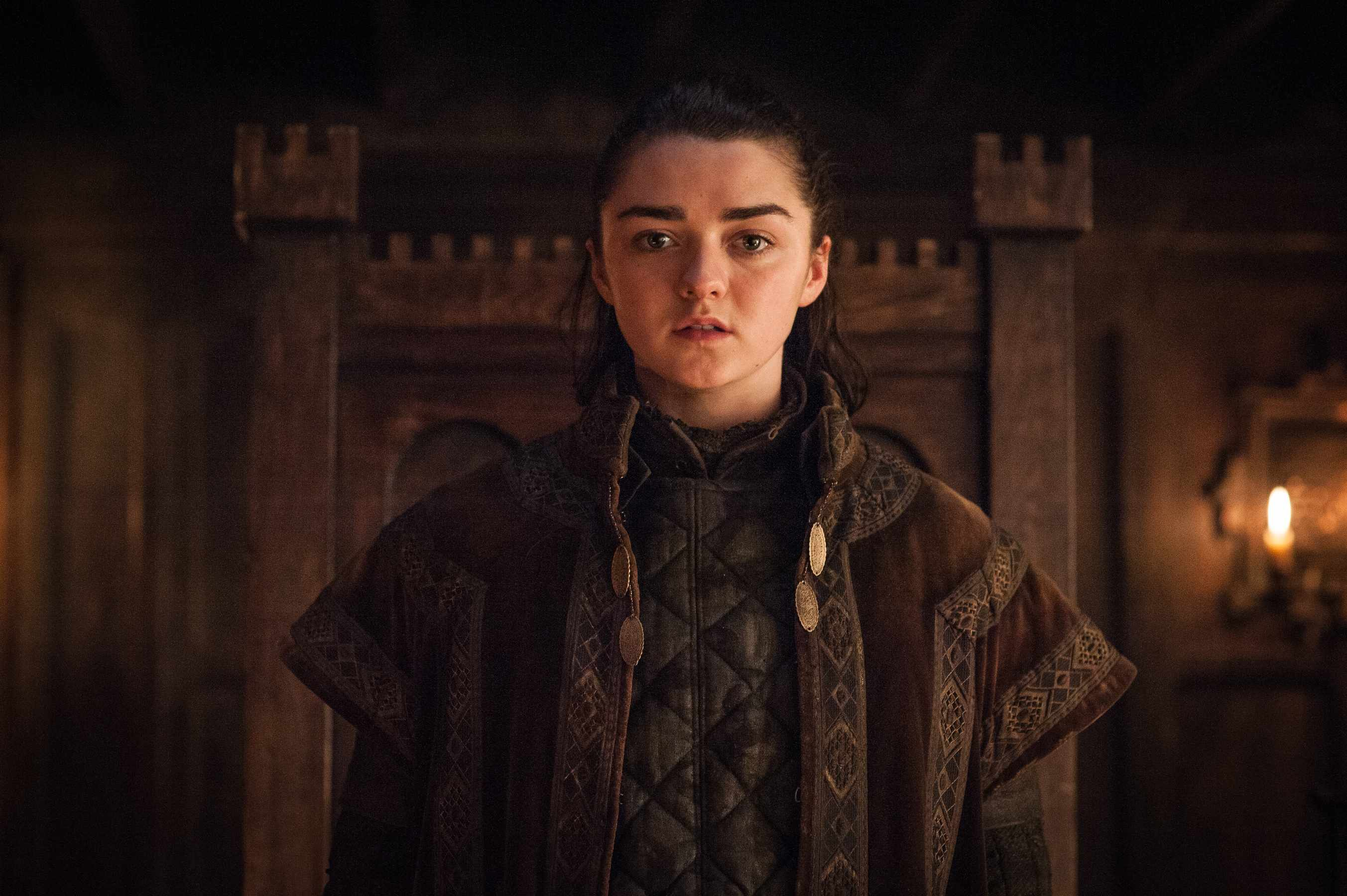 Maisie Williams as Arya Stark, HBO, TL, Sky pics