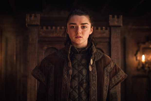 Maisie Williams as Arya Stark, HBO, TL, Sky pics