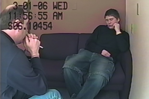 Brendan Dassey during his interview with detectives, as seen in Making a Murderer Part One (Netflix)