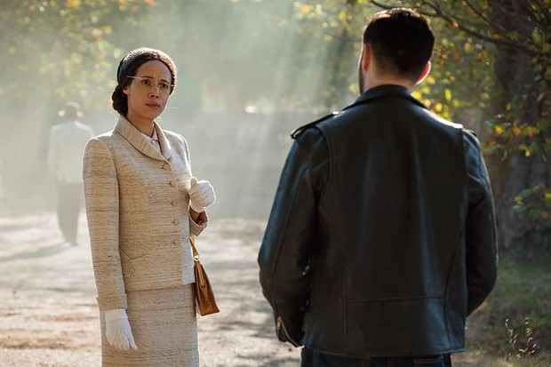 Vinette Robinson as Rosa Parks and Joshua Bowman as Krasko in Doctor Who