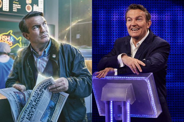 Bradley Walsh in Doctor Who and presenting The Chase (BBC, ITV, HF)