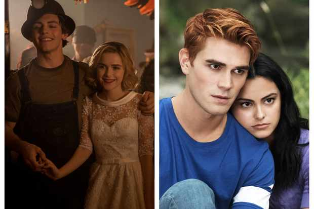 Riverdale Chilling Adventures Of Sabrina Cross Over Kiernan Shipka And Ross Lynch Say Never Say Never Radio Times