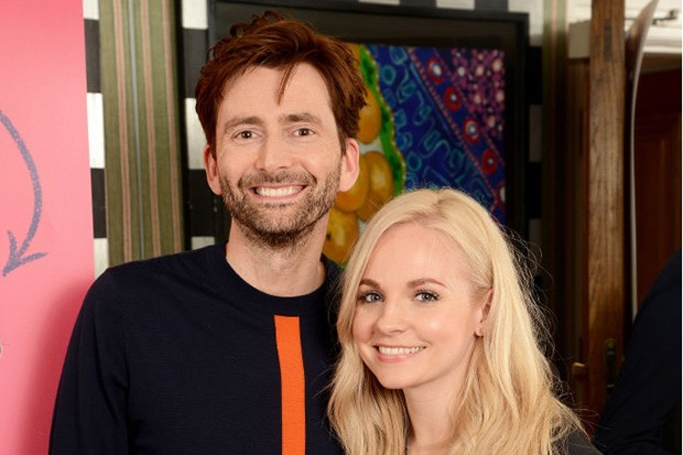 David Tennant is adorable as he gets in touch with his Scottish roots on a trip to new York with wife Georgia