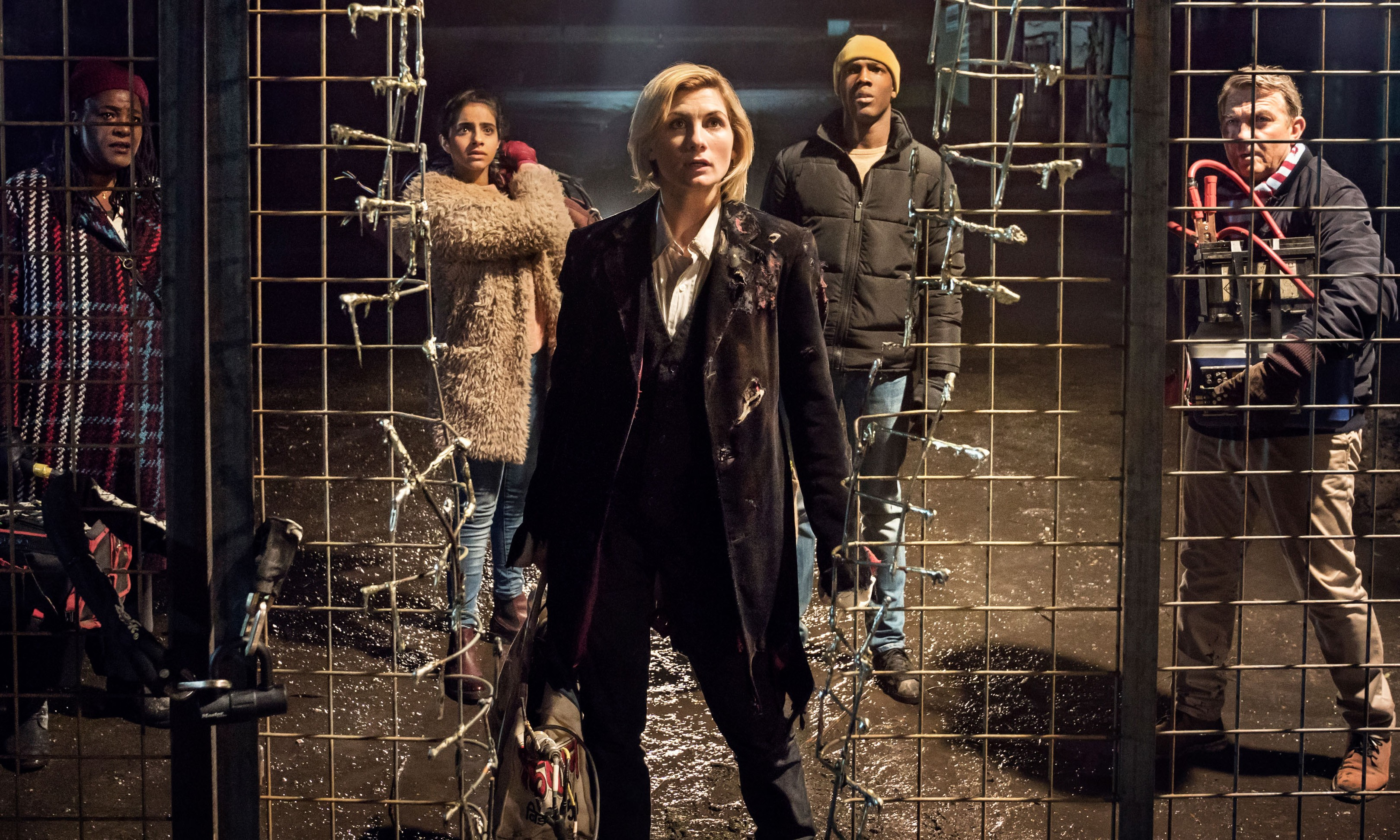 WARNING: Embargoed for publication until 00:00:01 on 17/09/2018 - Programme Name: Doctor Who Series 11 - TX: n/a - Episode: n/a (No. 1) - Picture Shows: Episode 1 Preview:  **Strictly Embargoed until 17/09/2018 for Print**  Strictly Embargoed for Online use only from until 20/09/2018 00:00:01 Grace (SHARON D CLARKE), Yaz (MANDIP GILL), The Doctor (JODIE WHITTAKER), Ryan (TOSIN COLE), Graham (BRADLEY WALSH) - (C) BBC/BBC Studios - Photographer: Ben Blackall