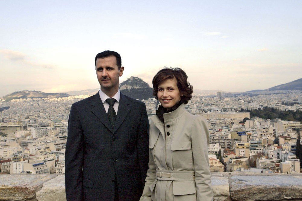 Bashar al-Assad and his wife Asma (Getty)