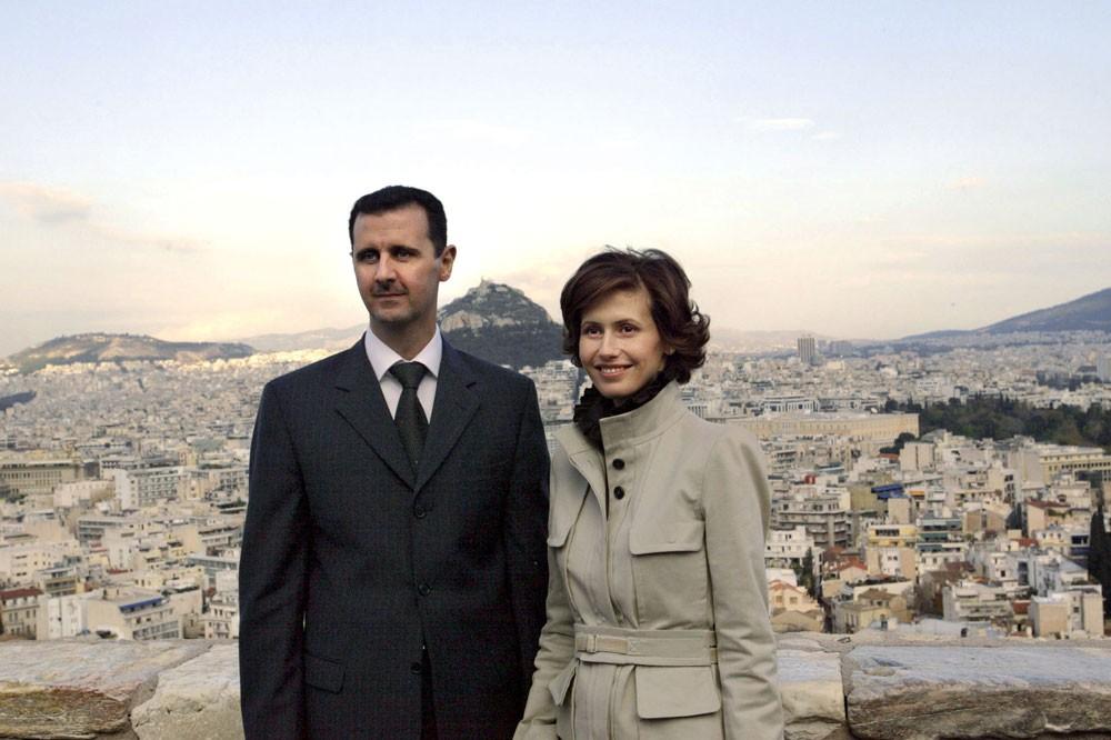 Bashar al-Assad and his wife Asma (Getty)